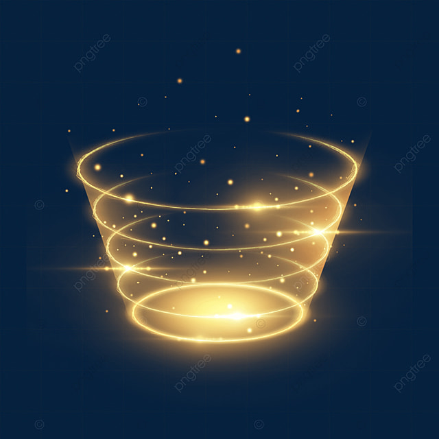 yellow spiral sci fi magic light effect