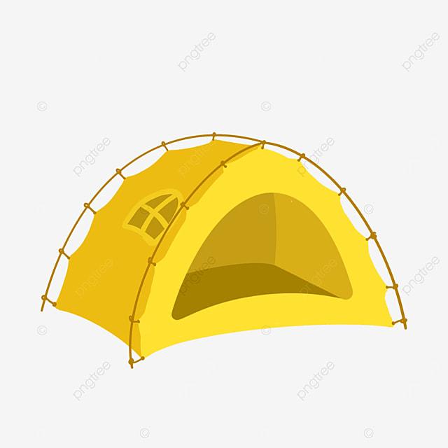 yellow tent clip art