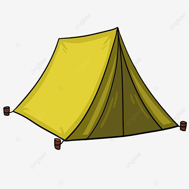 yellow triangle tent clip art