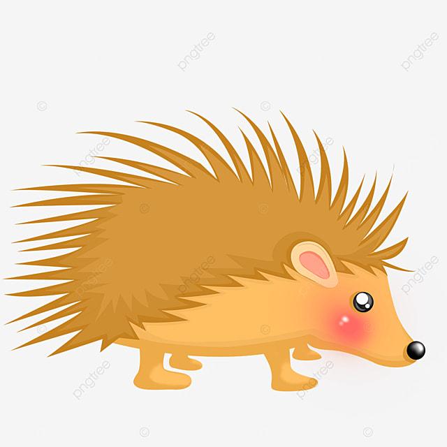 yellowish porcupine clip art