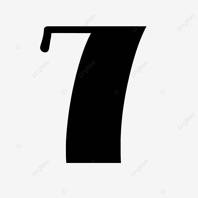black number 7