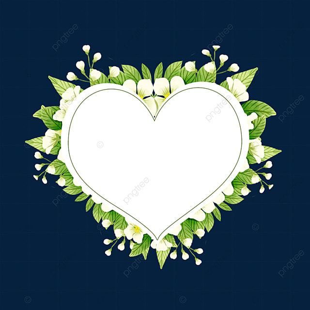 heart shaped jasmine flower border