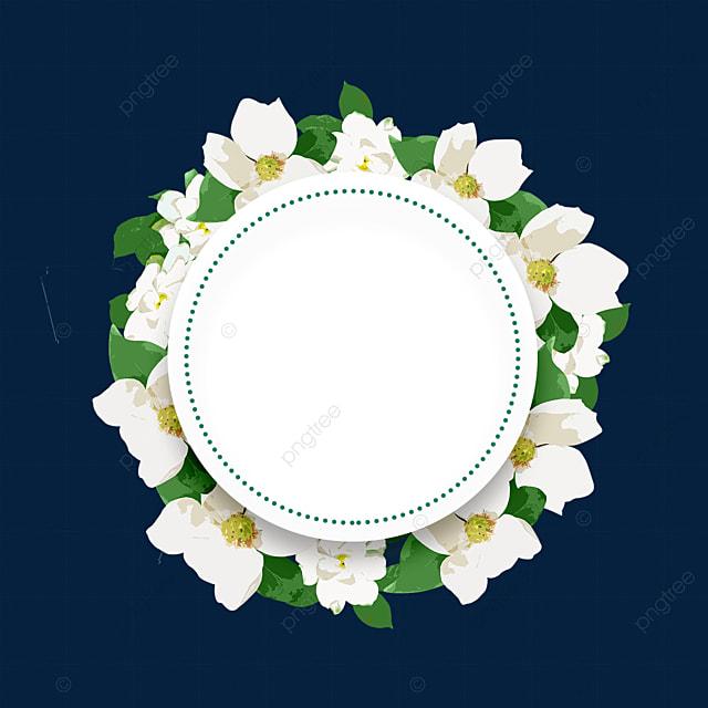 round jasmine flower border