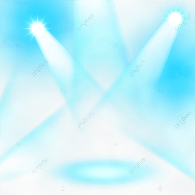 trendy blue gradient stage color spotlight