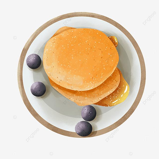 blueberry sauce dish dessert pancakes clip art