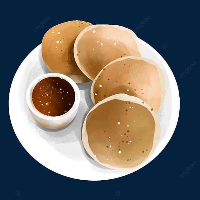 chocolate sauce dish food pancake clip art