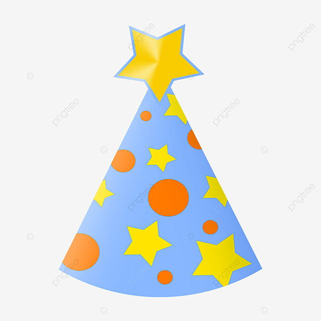 cute stars round birthday party hat clipart