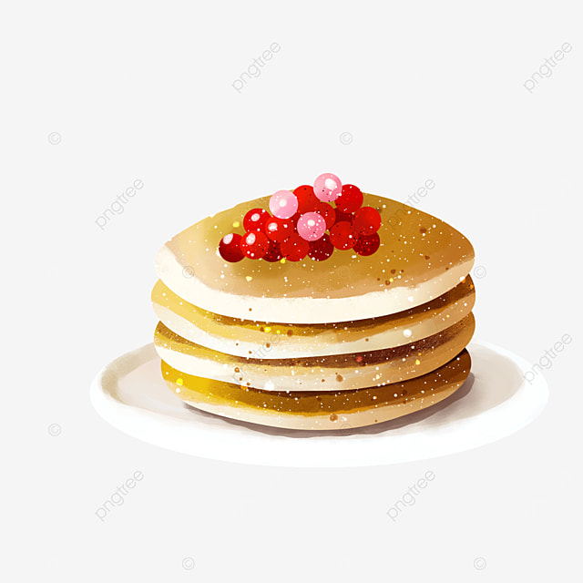 delicious berry multi layered pancakes clipart