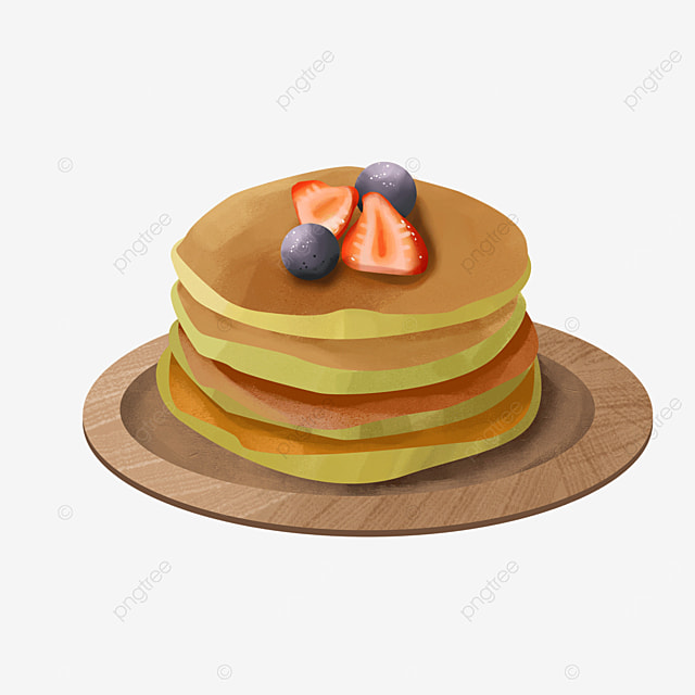 delicious pancakes with strawberry blueberry berry clipart