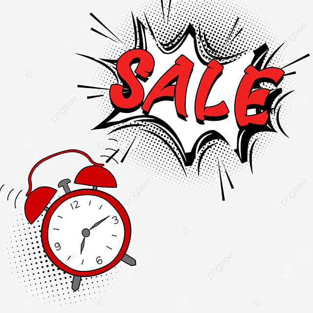 discount countdown red alarm clock promotion dialog