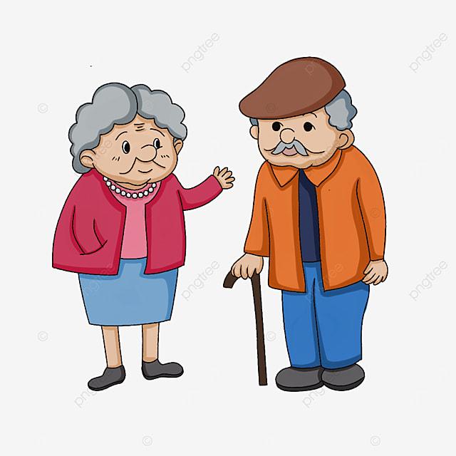 elderly greeting clipart