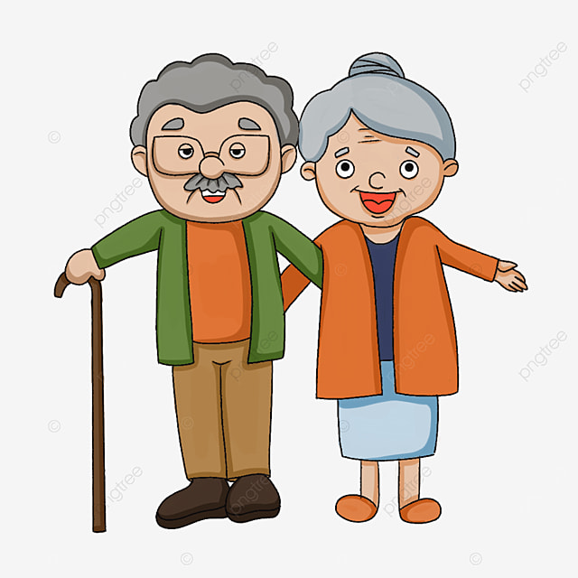 elderly man with open arms clipart