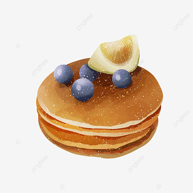 fig berry blueberry pancakes clipart