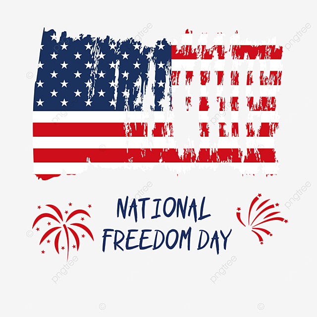 flag celebrates national freedom day in the united states