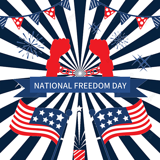 free hands freedom independence ribbon national freedom day