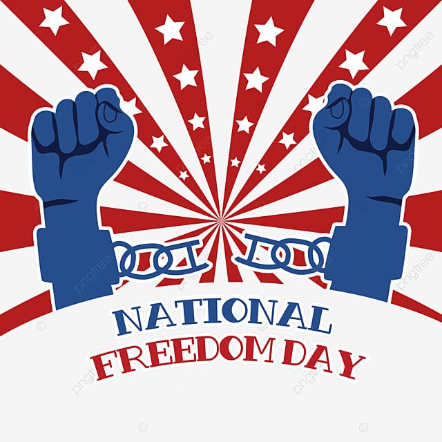 free hands symbolize freedom national freedom day