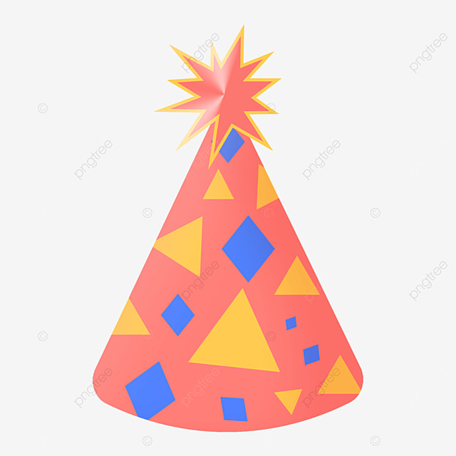 geometric triangle birthday party hat clipart