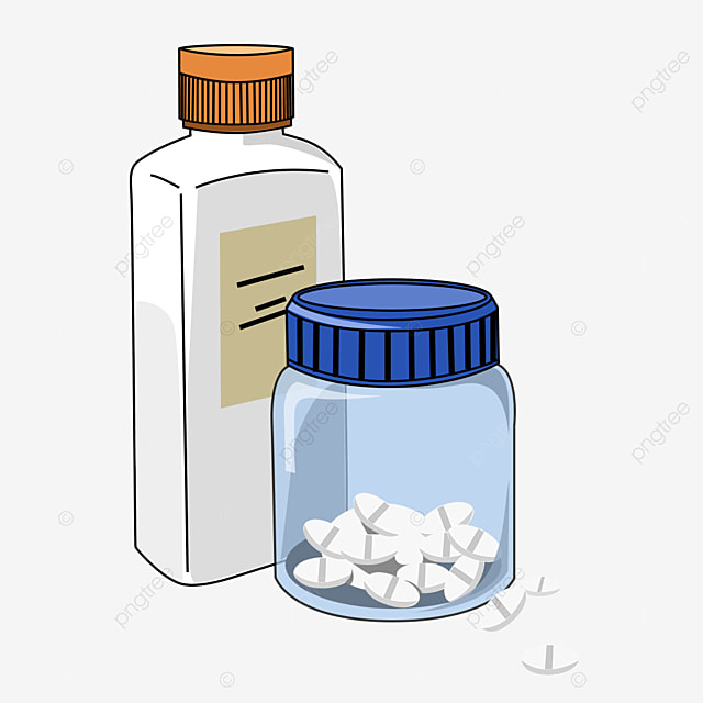 high and low combination medicine bottle clipart