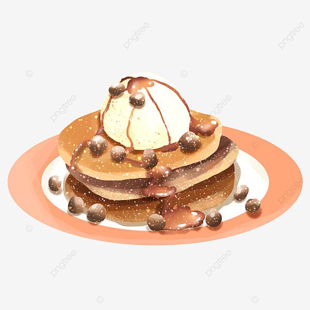 ice cream chocolate bean delicious dessert pancake clipart