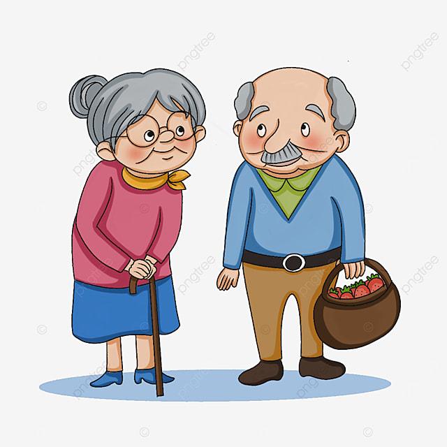 kindly cute elderly clipart