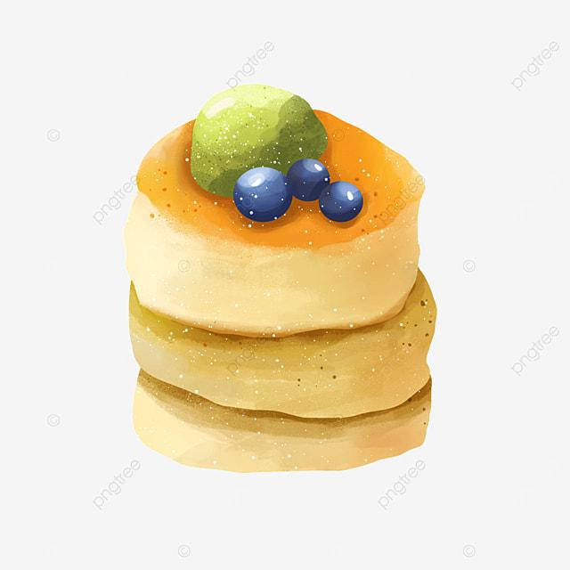 matcha ice cream blueberry muffin pancake clipart