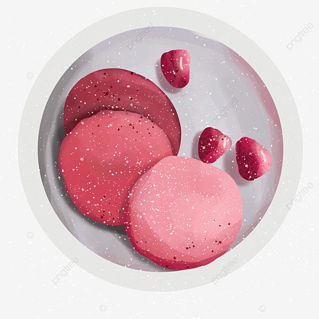 pitaya flavor berry pink pancake clipart