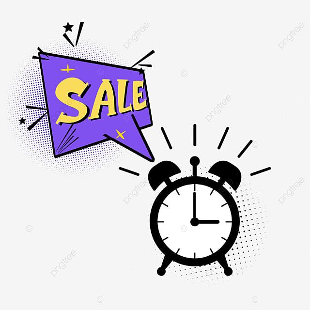 purple countdown discount promotion dialog