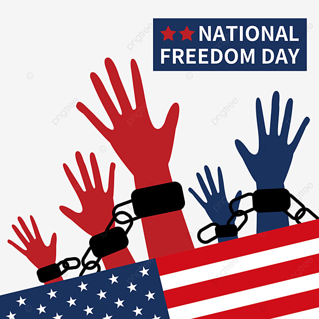 reach out for the declaration of freedom to commemorate national freedom day