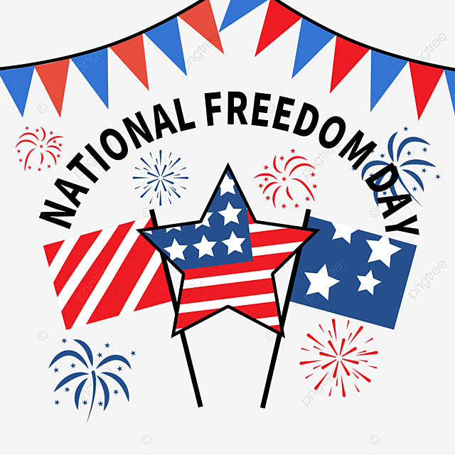 ribbon fireworks stars celebrate freedom national freedom day