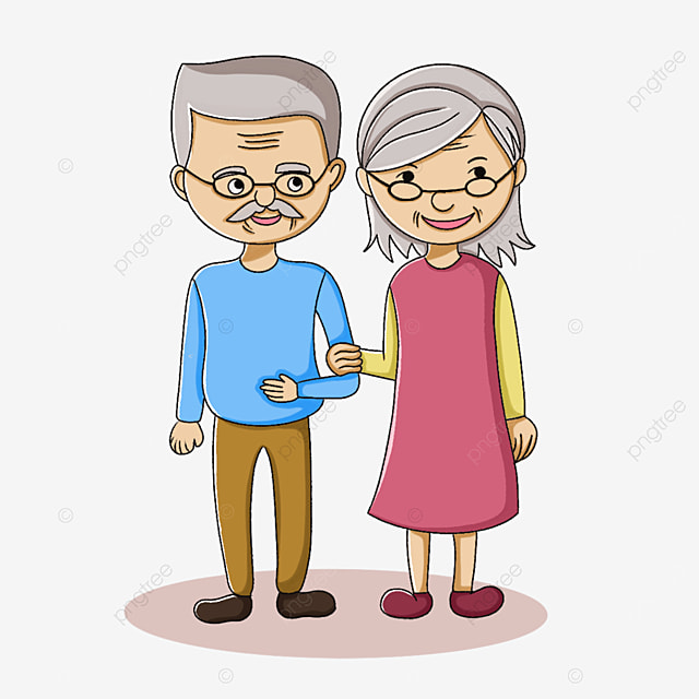 two kind old men clipart