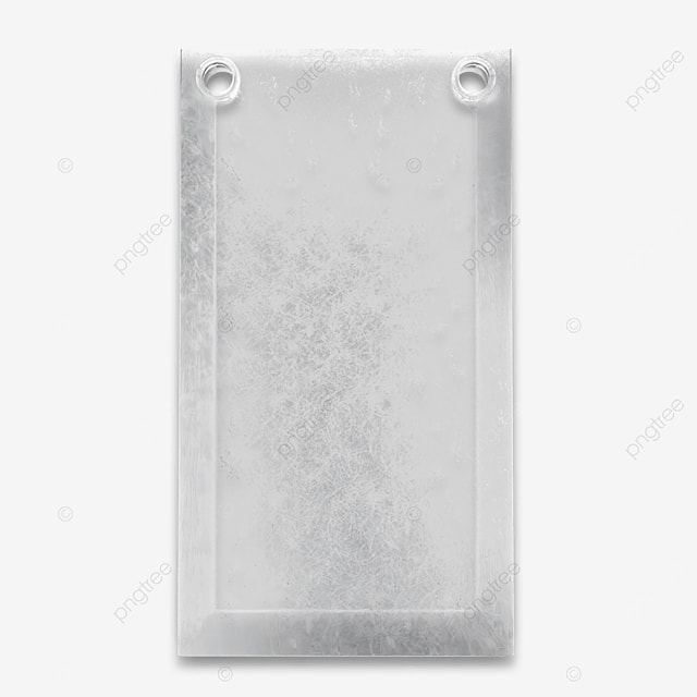 3d hard edged plastic transparent frosted packaging bag