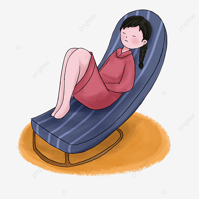 blue striped seat lazy clip art