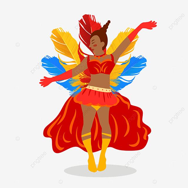 brazilian carnival costumed dancers