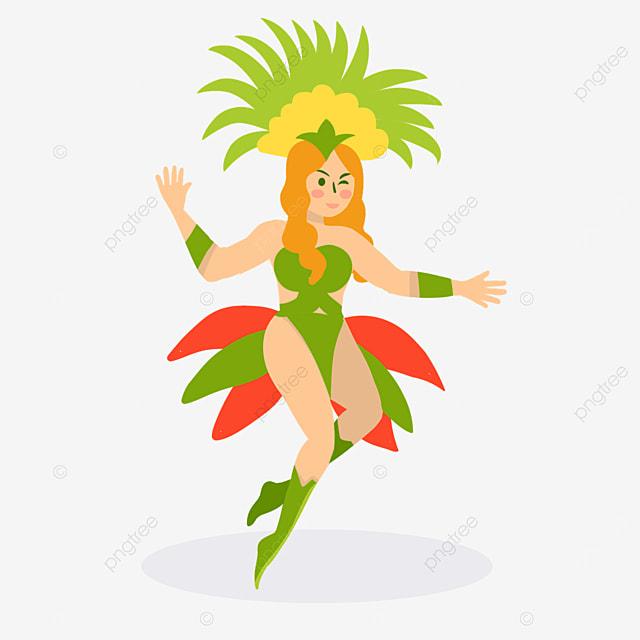 brazilian carnival green tiara dancer