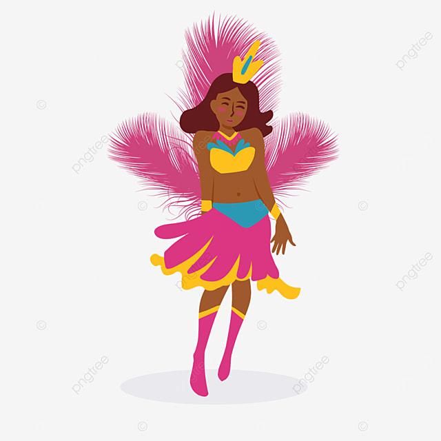 brazilian carnival pink feather dancer