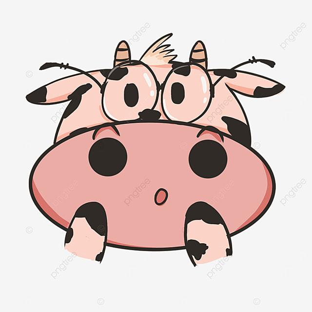 cow face clipart cute glasses calf cow