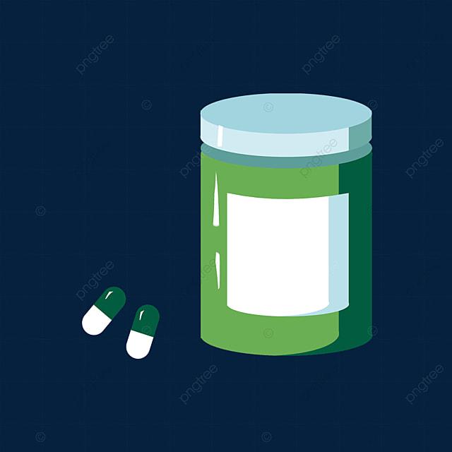 grass green medicine bottle pills clipart