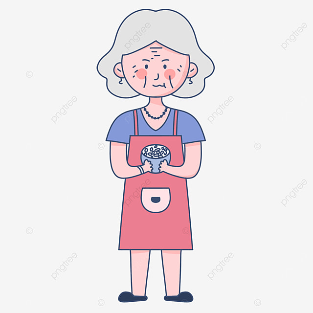 happy cook cooking food senior man clipart