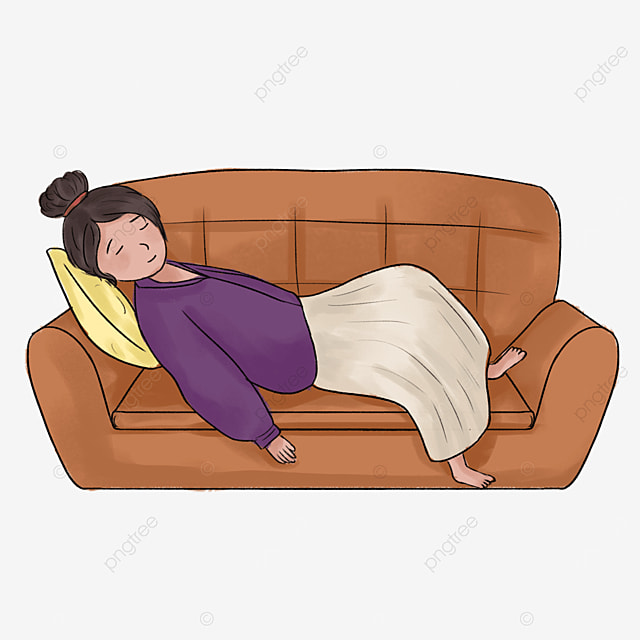lazy on the couch clipart