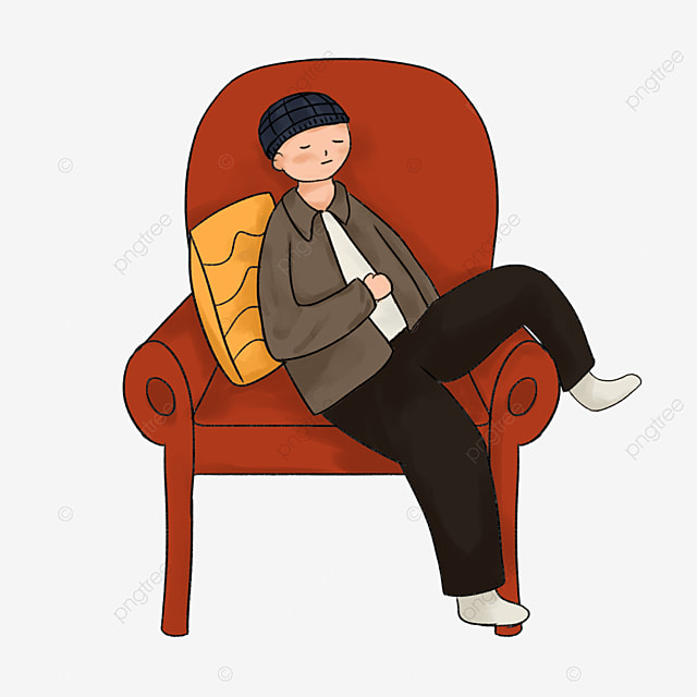 red seat lazy clip art