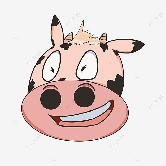 smirk treacherous smiling bull face clipart