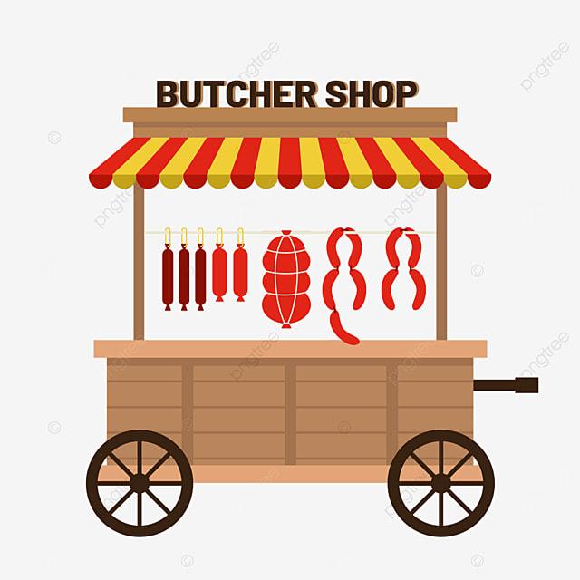 street file market flat wind sausage cart