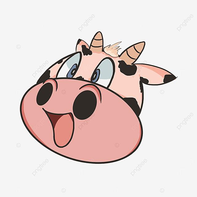 surprised surprise cute cow face clipart