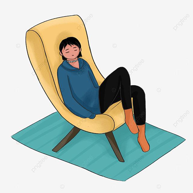 yellow recliner lazy clip art