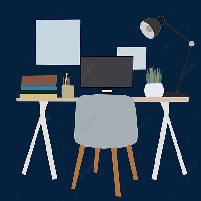 Office Desk And Chair Computer File, Office, Desks And Chairs, Computer PNG  Transparent Clipart Image and PSD File for Free Download