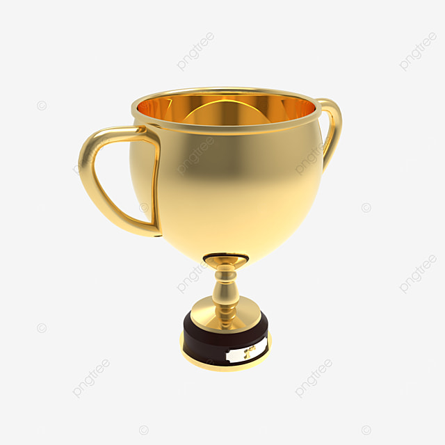 3d render golden trophy