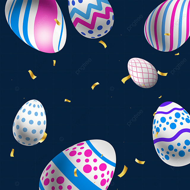 blue and pink easter textured eggs
