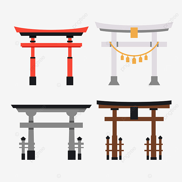 brown and red japanese architecture torii
