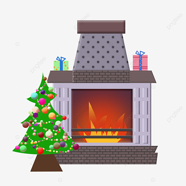 Christmas Tree Fireplace Christmas Christmas Tree Fireplace Png Transparent Clipart Image And Psd File For Free Download