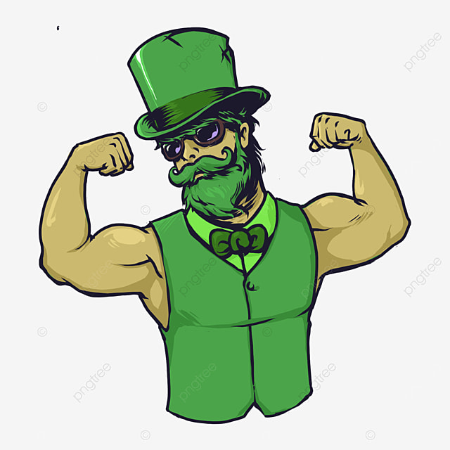cool muscle man st patricks day concept